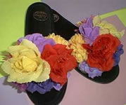 Flower Slippers Feather slippers diva tools Whimsical slippers Buy
